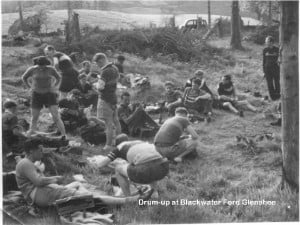 Drum up at Blackwater ford Glenn Shee mid 1950s